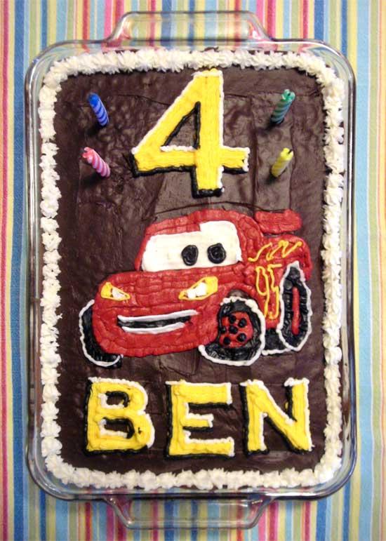 Ben's Lightning McQueen cake