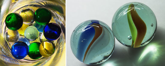 Purie and Cat's Eye Marbles