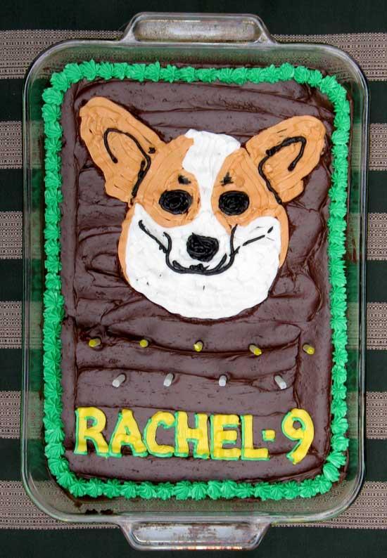 Rachel's Corgi cake