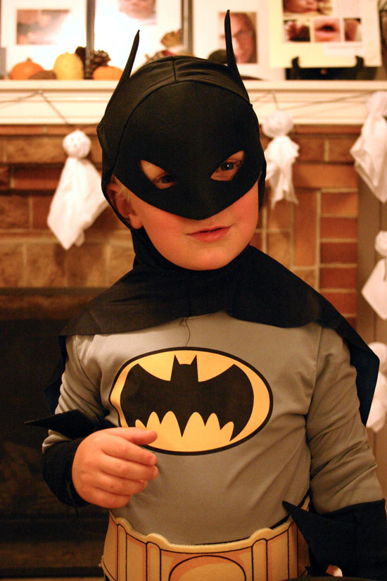 Wyatt as Batman, Halloween 2008