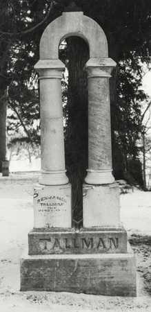 Benjamin B. Tallman's gravestone, c. 1985